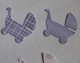Purple Cardstock/Scrapbooking Paper Strollers - 50 count