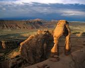 Delicate Arch Photo, Arches Photograph Landscape Photography Southwest Desert Santa Fe Style Sunrise nat19