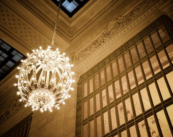 Chandelier Photo New York Photography Grand Central Photo Train Station nyc Architecture Neutral Colors nyc2