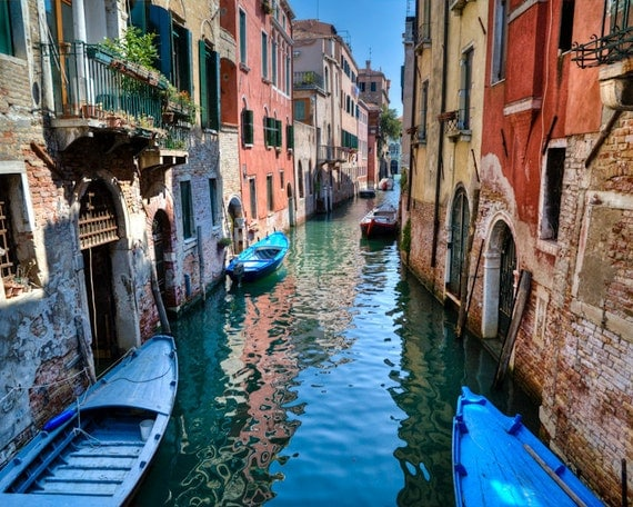 venice photograph italy photo venice canal venetian buildings