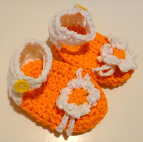Sandals Baby Toddler Strap Flower Orange