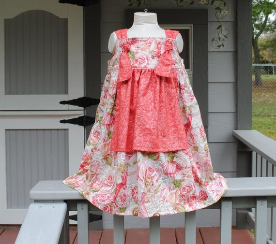 Knot Dress with Apron in Flower Fairies