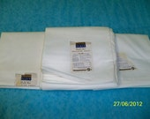 3 Vintage unused Penco Penny's Muslin White sheets 81 x 108 Quilting