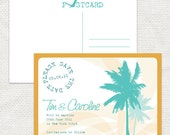 beach party travel save the date - printable file