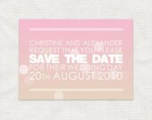 printable wedding save the date romantic pretty announcement digital bokeh lights ombre gradient watercolour water-colour - soft spot design