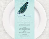 antique chic vintage style MENU CARDS to match our designs -  printable file