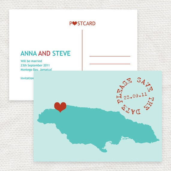 modern map save the date - printable file - customised with any country or state personalized announcement travel destination