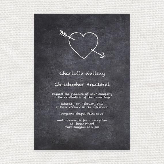 Diy Chalkboard Wedding Invitations: Chalkboard Diy Wedding Invitations Printable By Idoityourself