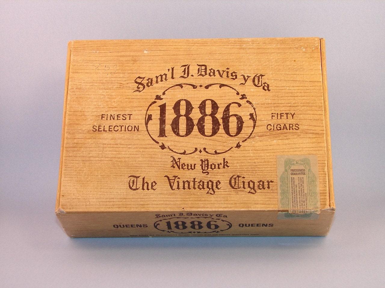 Vintage Samuel J Davis Y Ca Cardboard Cigar Box By