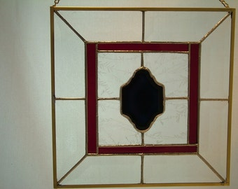 Stained Glass Panel-Blue Focal Tile