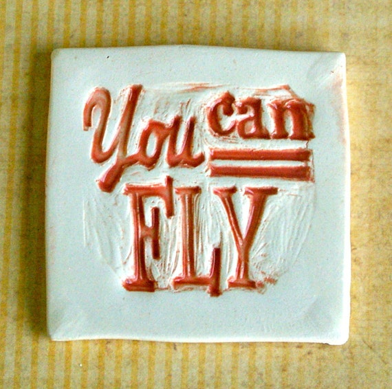 You can fly Handmade Ceramic Art Tiles for Mosaic Artwork or Magnets T739