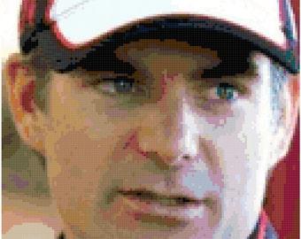 Jeff Gordon - Nascar cross stitch portrait
