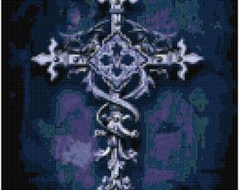 Gothic Cross of Hope Original Cross Stitch Pattern