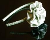 Tea Green - Satin Wrapped Headband - Free Worldwide Shipping - Romance And Whimsy