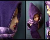 Reversible Hoodie Scarf- Purple/ Lilac