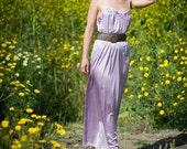 Diane Von Furstenberg Satin night gown/ maxi dress- l