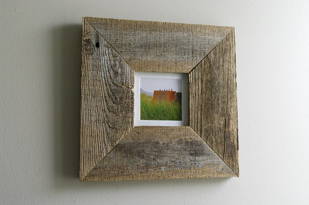 Miniature Beach Grass Reclaimed Wood Frame
