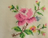English Rose Linen Table Cloth