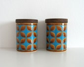 Hornsea Salt & Pepper Pots / Shakers - Blue, Brown