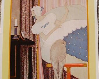 Vintage VOGUE Cover Poster - Paris Fashions - April 1925 - Large Portfolio Art Print