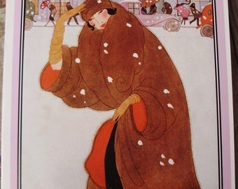 Vintage Poster - Vogue Magazine Cover - 1920 Winter Fashions Number