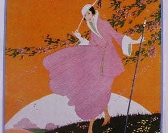 Poster of Vintage Vogue Magazine Cover- March 1916 Magazine Cover - Spring Pattern Number