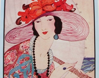 Vintage VOGUE Cover Poster - Summer Fashions Number - June 1919