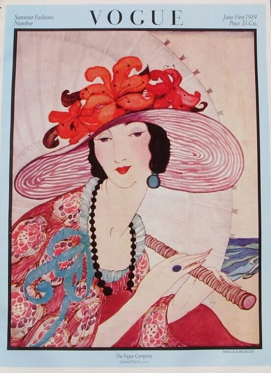 Vintage VOGUE Cover Poster Summer Fashions Number June