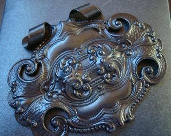 Gothic SteamPunk Design, Custom DARK PLAQUE With UNIQUE Bail Pendant