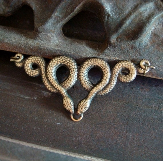 Reptile Snake, 3 Ring SNAKE CONNECTOR NECKLACE Supply, Pendant