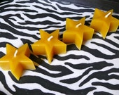 4 Pure Beeswax Star Votives