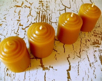 4 Beeswax Votives - Small size