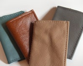 Recycled Leather Business Card Holder