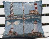 Nautical\/Lighthouse Throw Pillow