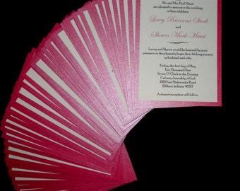 Shimmering Style - Wedding Invitation