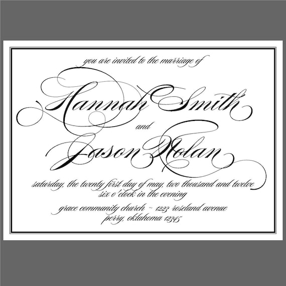 Formal Affair - Wedding Invitations