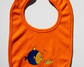 Embroidered fish baby bib