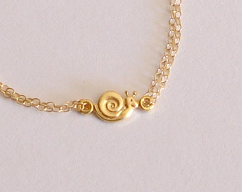 Snail bracelet Goldfilled