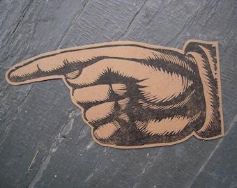 Woodcut Hands