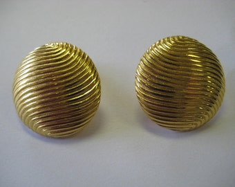 golden years VINTAGE disco ball EARRINGS. clip ons SALE