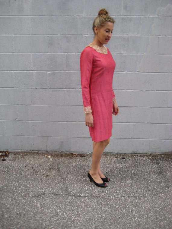 SALE hot in pink 60s MOD party DRESS
