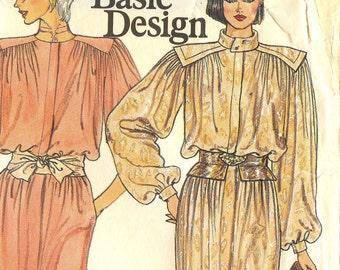 vintage 1980s pattern - Vogue 1337 UNCUT - Misses' dress size 12, 34 bust