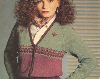 Vintage 1980s sweater knitting patterns - Patons Beehive Double Knitting 451