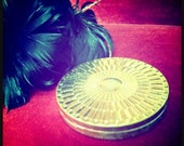 Mermaid Treasure - STARLET'S DELIGHT- Customized Solid Perfume in Vintage Art Deco Gold Sunburst Glamour Compact