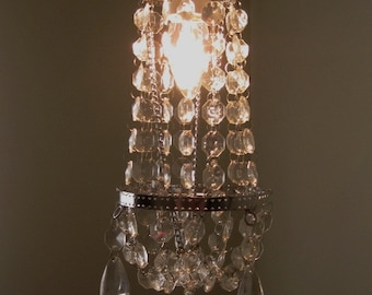 Hollywood Glam Petite 1 Bulb Chandelier for  Fixture MADE TO ORDER