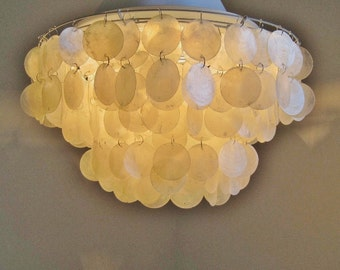 Giant Flushmount Capiz Chandelier in Natural MADE to ORDER