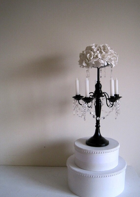 Chic Couture 5 Arm Taper Candelabra with Floral or Pillar Center