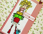 GIFT LIST - Tall notepad/notebook for your gifts list with lovely lady