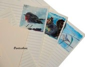 Stationery with 10 beautiful animal paintings.
