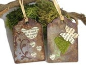 Distressed rustic tags